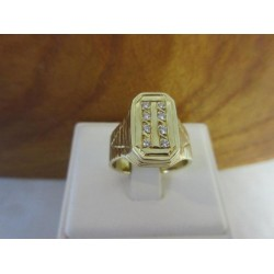 Ring ~ PIERO Gouden 14 karaats Heren Ring met diamant