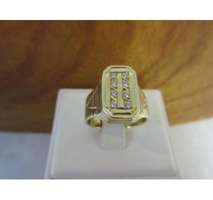 Ring ~ PIERO Gouden 14 karaats Heren Ring met diamant