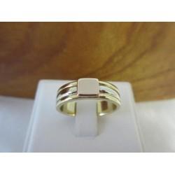 Ring ~ Gouden tricolor (3 kleurig wit-, geel- en roodgouden) 14 karaats ring met een graveerplaat