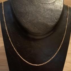 """Ketting ~ Gouden 14 karaats """"Figaro"""" schakel ketting beschikbaar tot en met 47cm"""