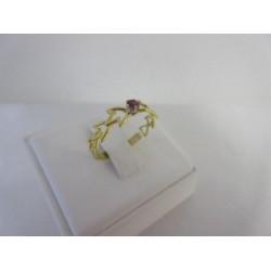 Ring ~ Gouden 18 karaats tulp Ring met Robijn