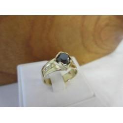 Ring ~ AROLD Gouden handgemaakte Ring met Zwarte Diamant & Diamanten