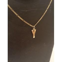 Hanger ~ Gouden 14 karaats Letter Y hanger