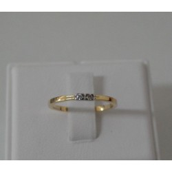 Ring ~ Gouden 14 karaats bicolor ring met diamant