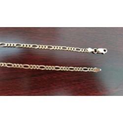 Ketting ~ Gouden 14 karaats Figaro schakel ketting Beschikbaar tot en met 60cm