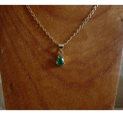 Hanger ~ ARIAN Gouden 14 karaats Hanger met Smaragd