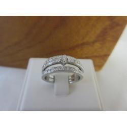 Ring ~ COSIMA Handgemaakte 14 karaats Witgouden Ring met Diamanten