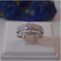 Ring ~ ELETTRA Witgouden 14 karaats Ring met Diamant