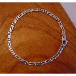 """Armband ~ Witgouden 18 karaats """"Tijgeroog"""" schakel Armband beschikbaar tot en met 18.5cm"""