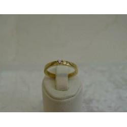 Ring ~ Gouden 14 karaats ring met Diamant (0.04 Crt VS)
