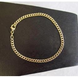 Armband ~ ABERTO Gouden 14 karaats Gourmet armband beschikbaar tot en met 23cm