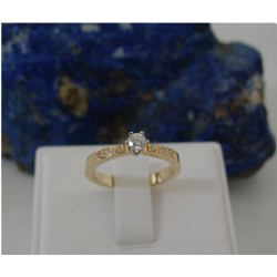 Ring ~ DIOR Gouden 14 karaats bicolor (wit- & geelgoud) Solitair Ring met Diamant