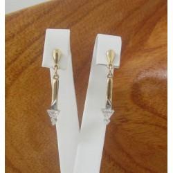 Oorbellen ~ Gouden 18 karaats oorbellen met zirconia