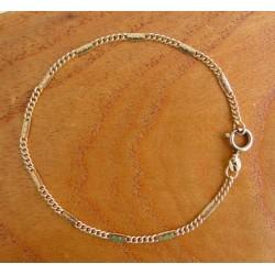 Armband ~ AMEDEO Gouden 14 karaats gourmet schakel Armband beschikbaar tot en met 19cm