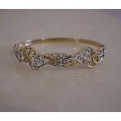 Armband ~ GIULIA Gouden 14 karaats bicolor (wit- en geelgouden) Armband