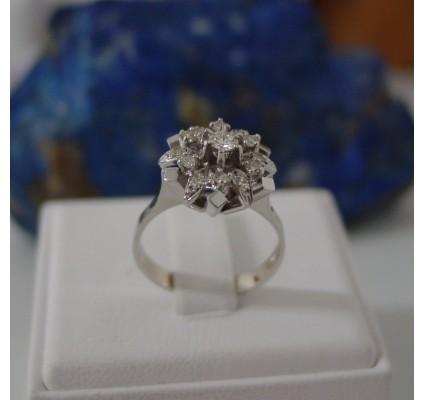 Ring ~ FLORETTA Witgouden 18 karaats Ring met Diamant