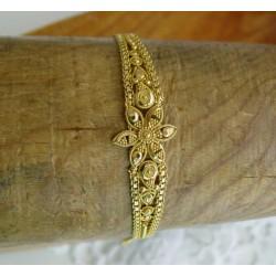 Armband ~ ANDREANA Gouden 18 karaats Bewerkte Bloem Armband beschikbaar tot en met 20cm