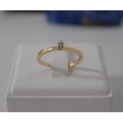 Ring ~ Gouden Solitair Ring met Diamant