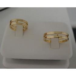 Trouwringen ~ INES Gouden 14 karaats trouwringen met Design