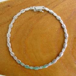 Armband ~ ANDREA schakel Design Witgouden